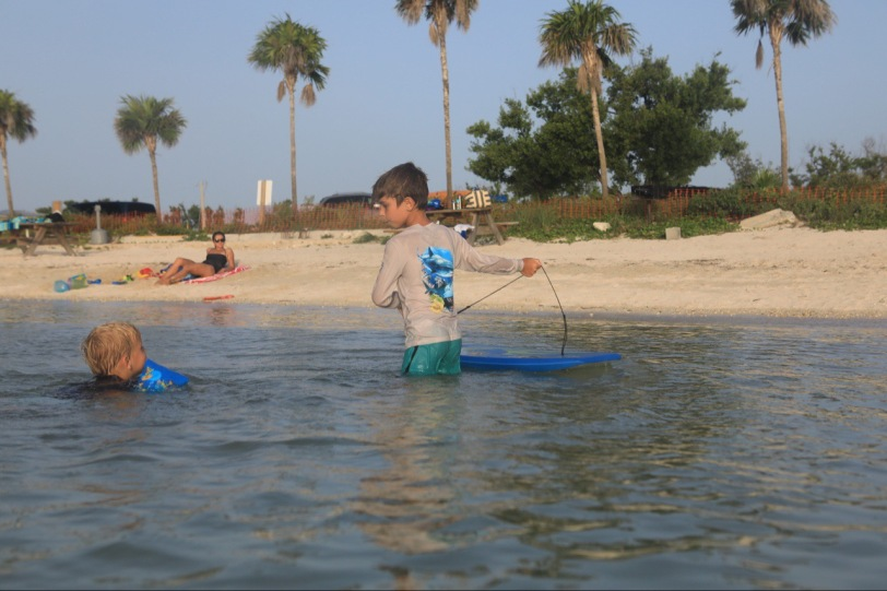 The shallow and calm water was perfect for toddlers beginning to swim and even older ones looking to paddle and snorkel.