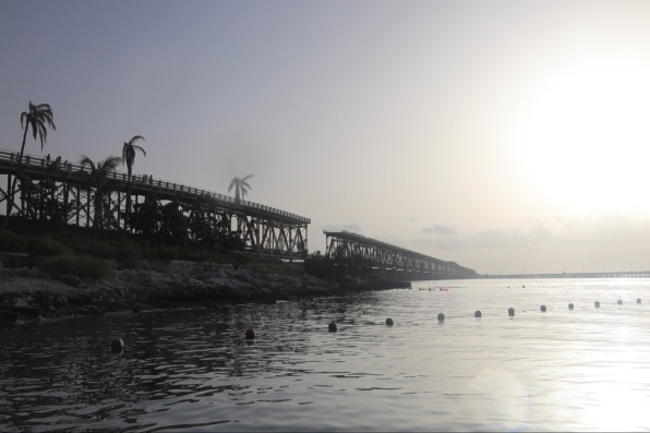 Beautiful view of the bridge from the beach. You can also stroll the beach and enjoy the gorgeous view atop.